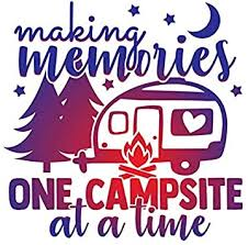 Amazon Com More Shiz Making Memories One Campsite At A Time Vinyl Decal Sticker Car Truck Van Suv Window Wall Cup Laptop One 5 5 Inch Decal Mks1372 Automotive