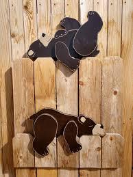 Reclining Wooden Bear Shelf Or Fence Sitters Yard Art Garden Playgroun Denver Cornhole Games