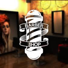 Barber Pole Decal Custom Barber Shop Name Sticker Barber Window Stickers