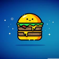 cute double cheeseburger blue ultra