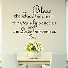 Bless The Food Before Us Wall Decal Quote Prayer Stickers Vinyl Sayings Dining Room Wall Art Kitchen Decor Kitchen Wall Decal Q166 Amazon Com
