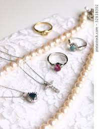 jewelry collection white background
