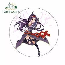 Earlfamily 13cm X 13cm For Girl Ahoge Armor Diy Fine Decal Vinyl Material Waterproof Refrigerator Windshield Car Stickers Car Stickers Aliexpress