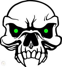 Evil Skull 1 Vinyl Decal Car Graphic Window Sticker 3 Color 9 525187843
