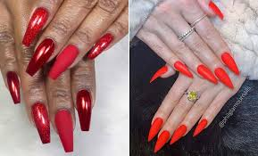 best red acrylic nail designs of 2019