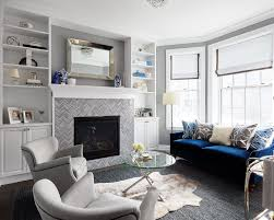 navy blue boys room with gray tile