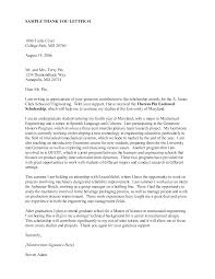 thank you letter for scholarship donor