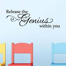 Release The Genius Wall Quotes Decal Wallquotes Com