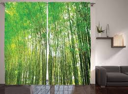 Ambesonne Bamboo Trees Decotaions Collection Natural Bamboo Forest Botanical Garden Photo Print Window Treatments Living Kids Girls Room Curtain 2 Panels Set 108 X 90 Inches Green Yellow Olive Ajwqzx5z Ajwqzx5z 33 90