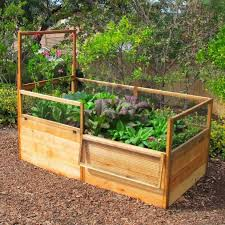 3 X 6 Raised Garden Bed With Hinged Fencing And Trellis Vegetable Garden Beds Vegetable Garden Raised Beds Building A Raised Garden