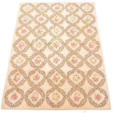 Hand Hooked Priscilla Turner New England Wool Floral Area Rug | EBTH