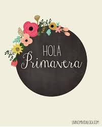 hola primavera printable in spanish