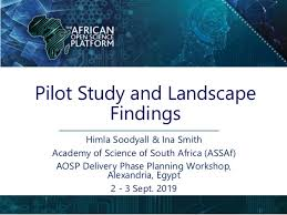 African Open Science Platform pilot study and landscape findings