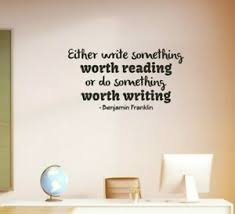 Benjamin Franklin Write Quote Wall Sticker Education School Vinyl Wall Art Decal Ebay