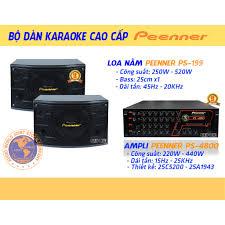 Freeship] Bộ dàn Karaoke Gia đình Cao cấp Amply Peenner PS4800 - Loa  Peenner PS199 - Hàng Chính hãng