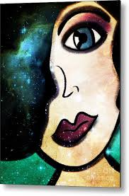 Tala - Goddess of Stars Metal Print by Angelica Smith Bill