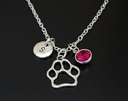 com dog paw necklace dog paw