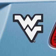 Set Of 2 Ncaa West Virginia University Mountaineers Chrome Emblem Automotive Stick On Car Decal Christmas Central