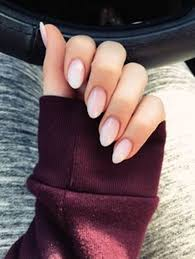 cute nails rounded acrylics nails