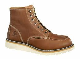 steel toe wedge boots oil tanned