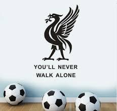 Liverpool Never Walk Alone Wall Quote Vinyl Sticker Decal Football Club Ynwa