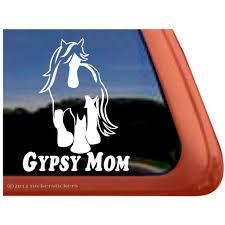 Gypsy Mom High Quality Vinyl Gypsy Vanner Horse Window Decal Walmart Com Walmart Com