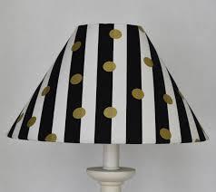 Black White Gold Polka Dots Lamp Shade Kids Room Gold Lamp Etsy