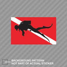 Scuba Diver Flag Sticker Decal Vinyl Dive Diving Ebay
