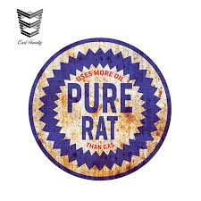 Earlfamily 12cm X 12cm Rat Rod Pure Rat Uses More Oil Than Gas Decal Stickers Car Auto Window Vinyl Decal Car Styling Car Stickers Aliexpress