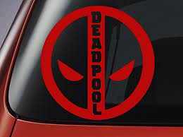 Deadpool Logo Car Window Decal Vinyl Buy Online In China At Desertcart