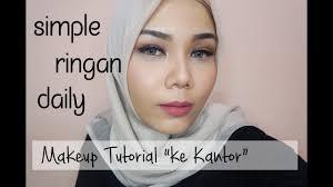 makeup tutorial ke kantor natural