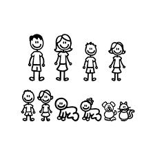 Mega Deal E7879 Szwl Car Stickers Interesting Family Dad Mom Kids Dog Cat Fashion Styling Decals Cartoon Creativity Personality Vinyl 20cm 15cm Cicig Co