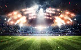 تحميل خلفيات كرة القدم 4k الفن التجريدي ملعب كرة القدم تقف كرة