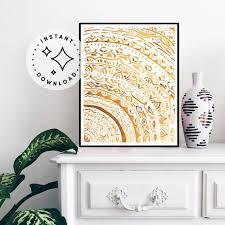 Mandala Painting Bohemian Wall Art Mindfulness Gift Etsy
