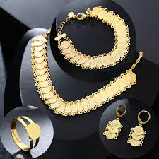 set jewelry gold coin ping
