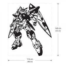 Gundam Zero Wing Vinyl Wall Art Decal