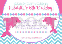 Printable Pink Dolphin Birthday Party Invitation Pink And Purple