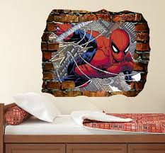 Stickers Handmade Products Venom Decal Kids Room Decal 3d Smashed Wall Sticker Boy Room Decor Dd267 Superhero Decal Spiderman Decal Marvel Sticker 3d Decal Venom Vinyl Sticker Hole In Wall Decal