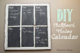 Diy Chalkboard Window Calendar Bless Er House