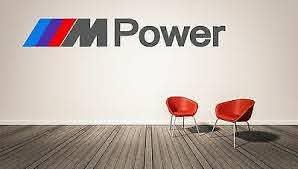 Bmw M Power Logo Wall Decal M Series Luxury Race Sports Cars Home Decor Vinyl Ebay
