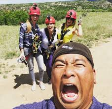 """Christine Noël on Twitter: """"My favorite photo of our #9News morning team's  zip line adventure today— courtesy of our super talented photographer  @AdamVance9News ! 😁 @CoreyRoseTV @Amelia__Earhart… https://t.co/FxjjF89MEt"""""""