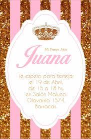 Invitacion Corona Crown Royal Party Primer Ano Invitaciones