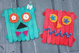 Diy Monster Craft Stick Creations Darice