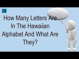 letters are in the hawaiian alphabet