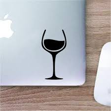 Wine Glass Drink Wine Vinyl Decal Logo Decal Laptop Decal Etsy