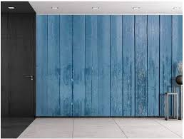 Wall26 Blue Wooden Fence Panels Wall Mural Removable Sticker Home Decor 100x144 Inches Amazon Com