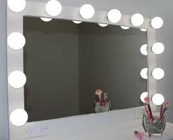 vanity mirror with lights rose gold