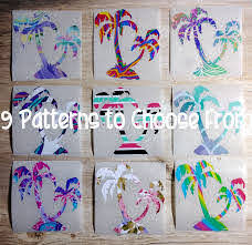 Tumbler Car Pattern Palm Tree Decal 9 Patterns To Choose From Beach Decal Palm Tree Sticker Palm Tree Sticker Tree Decals Tree Stickers