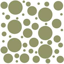 Amazon Com Set Of 300 Olive Green Vinyl Wall Decals Assorted Polka Dots Stickers Removable Adhesive Safe On Smooth Or Textured Walls Round Circles For Nursery Kids Room Bathroom