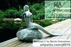 yard sculpture maid garden statues